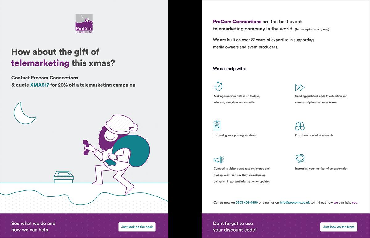procoms flyer design on behance