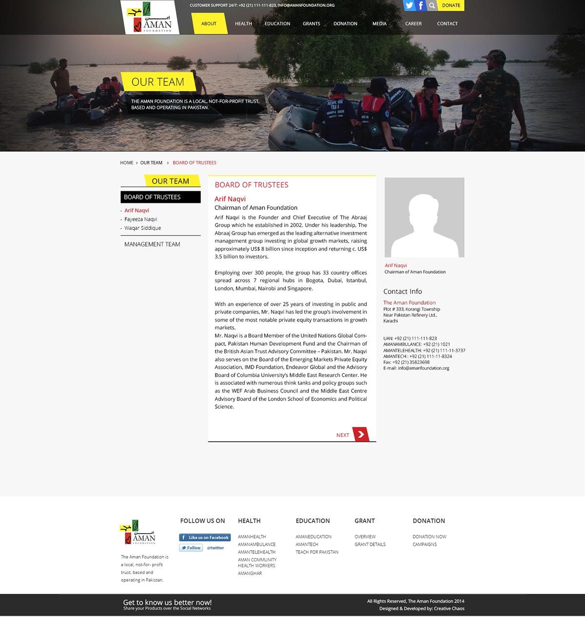 Aman Foundation Website Design on Behance