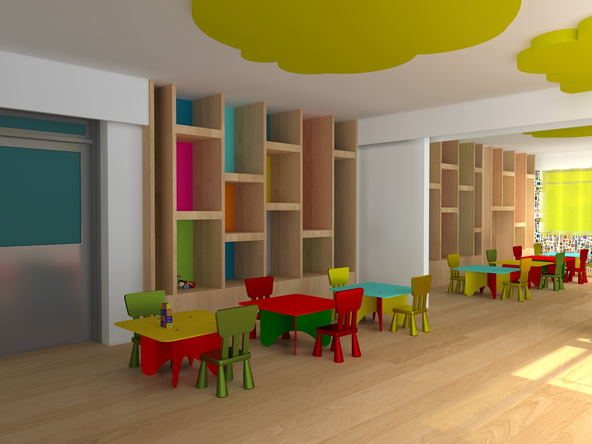 Interior Design Of A Nursery Classroom On Behance
