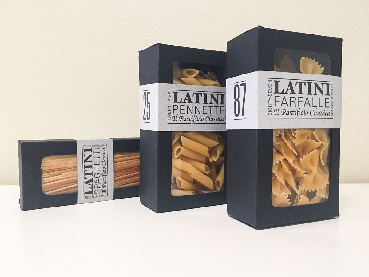 Latini Pasta Package Design On Behance