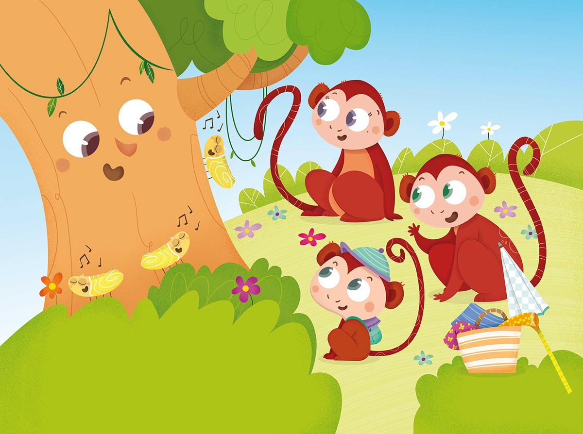 VeoVeo editorialedebé ilustracioninfantil jirafa Mono hipopotamo edebé editorial ilustradora infantil
