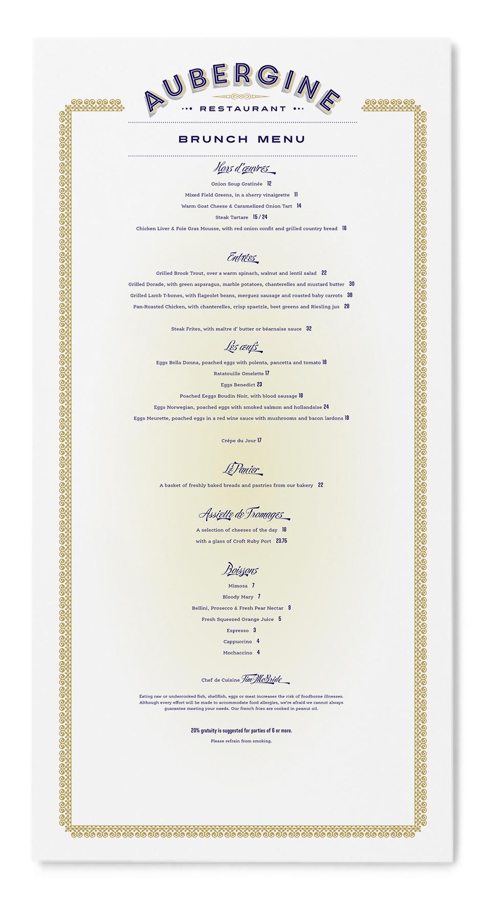 Type-Ed menu design