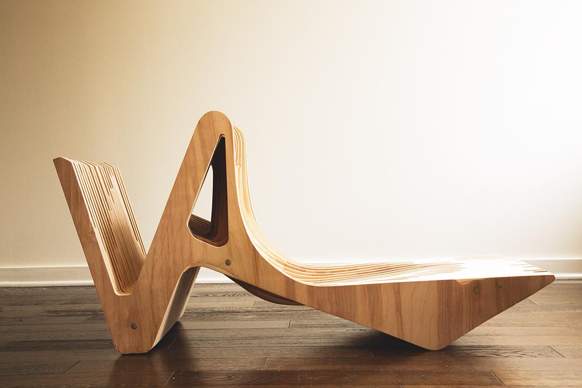 chair lounge fabrication craft wood working  wood