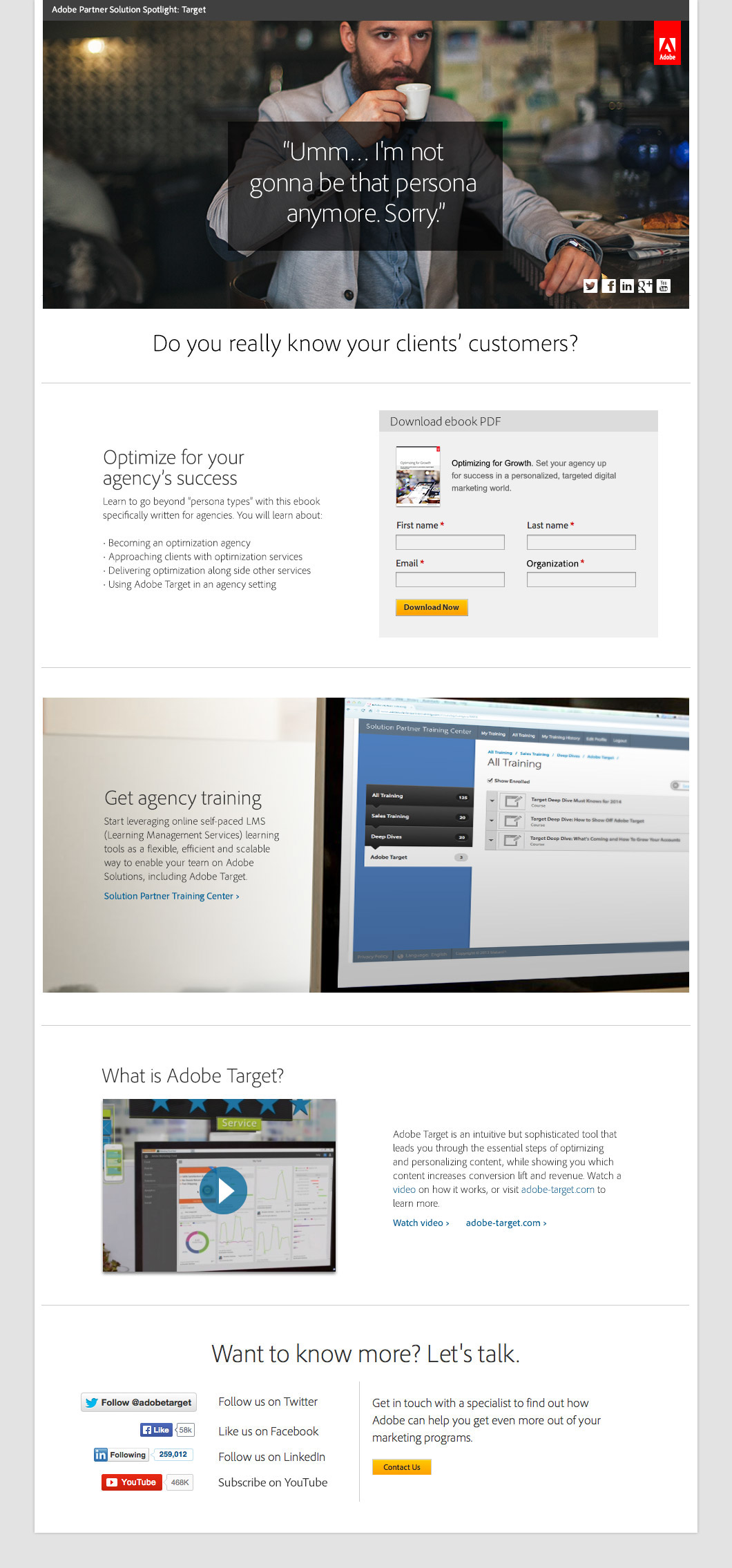 personas Digital Advertising banner ads landing page Email campaign UI ux