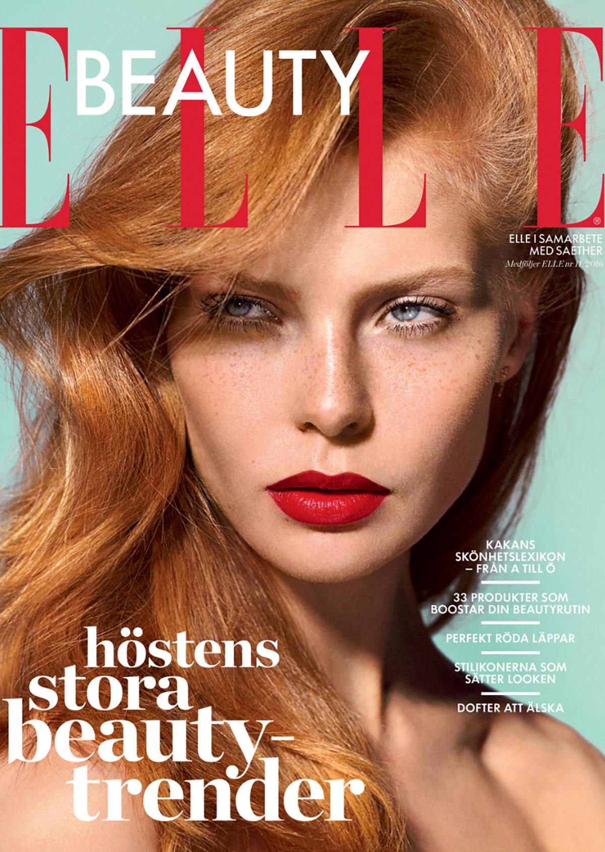 Elle Sweden Beauty Cover On Behance