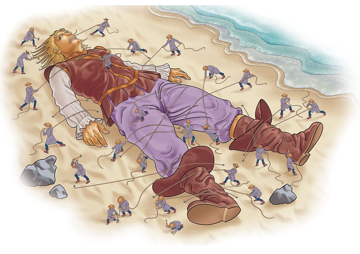 иллюстрации к путешествиям гулливера встречаем
