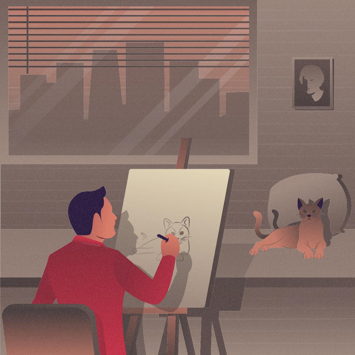 artist artist illustration Character Ebie ILLUSTRATION  Illustrator vector vector design vector download Vector Illustration