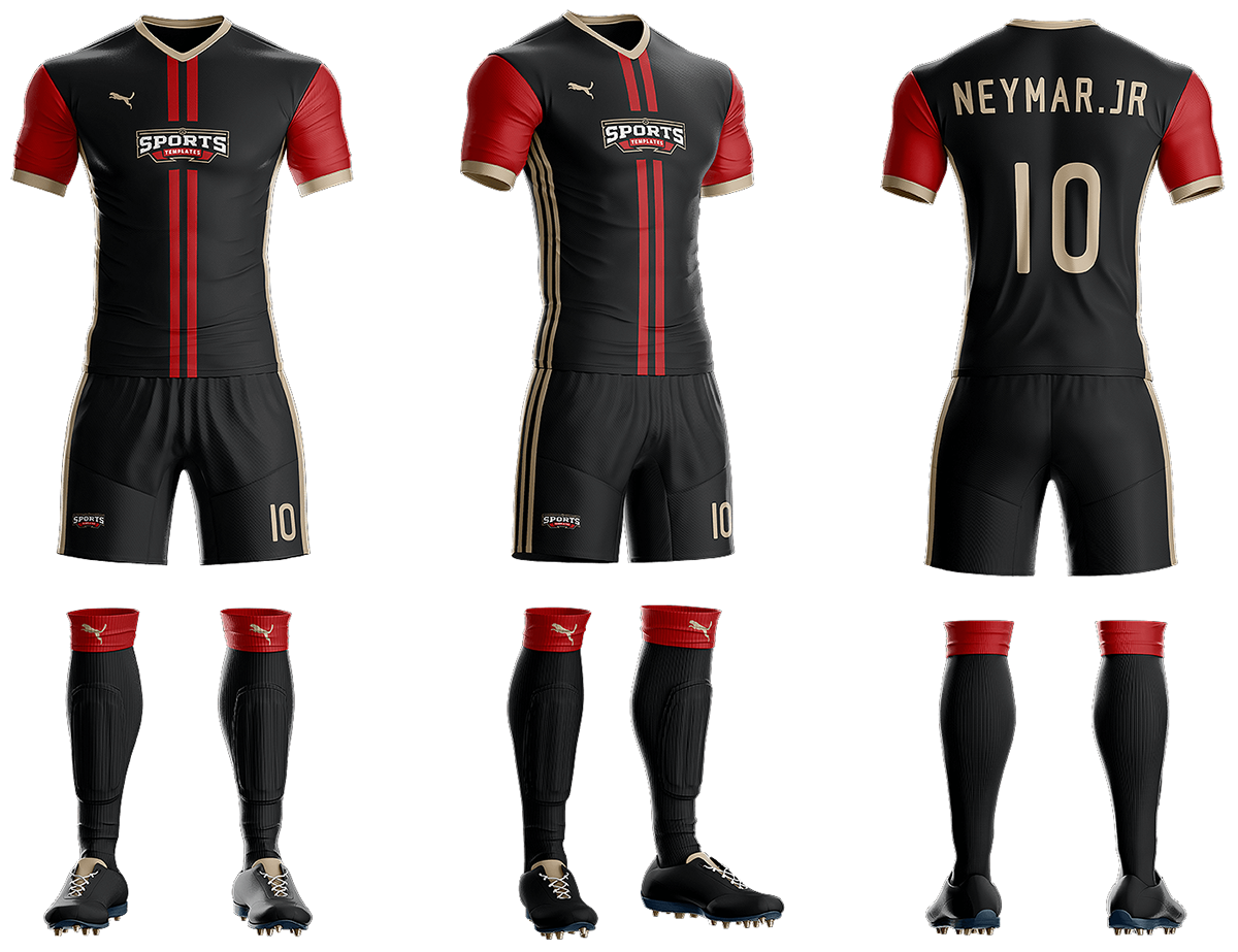 Goal soccer kit uniform template on behance for Softball uniform design templates