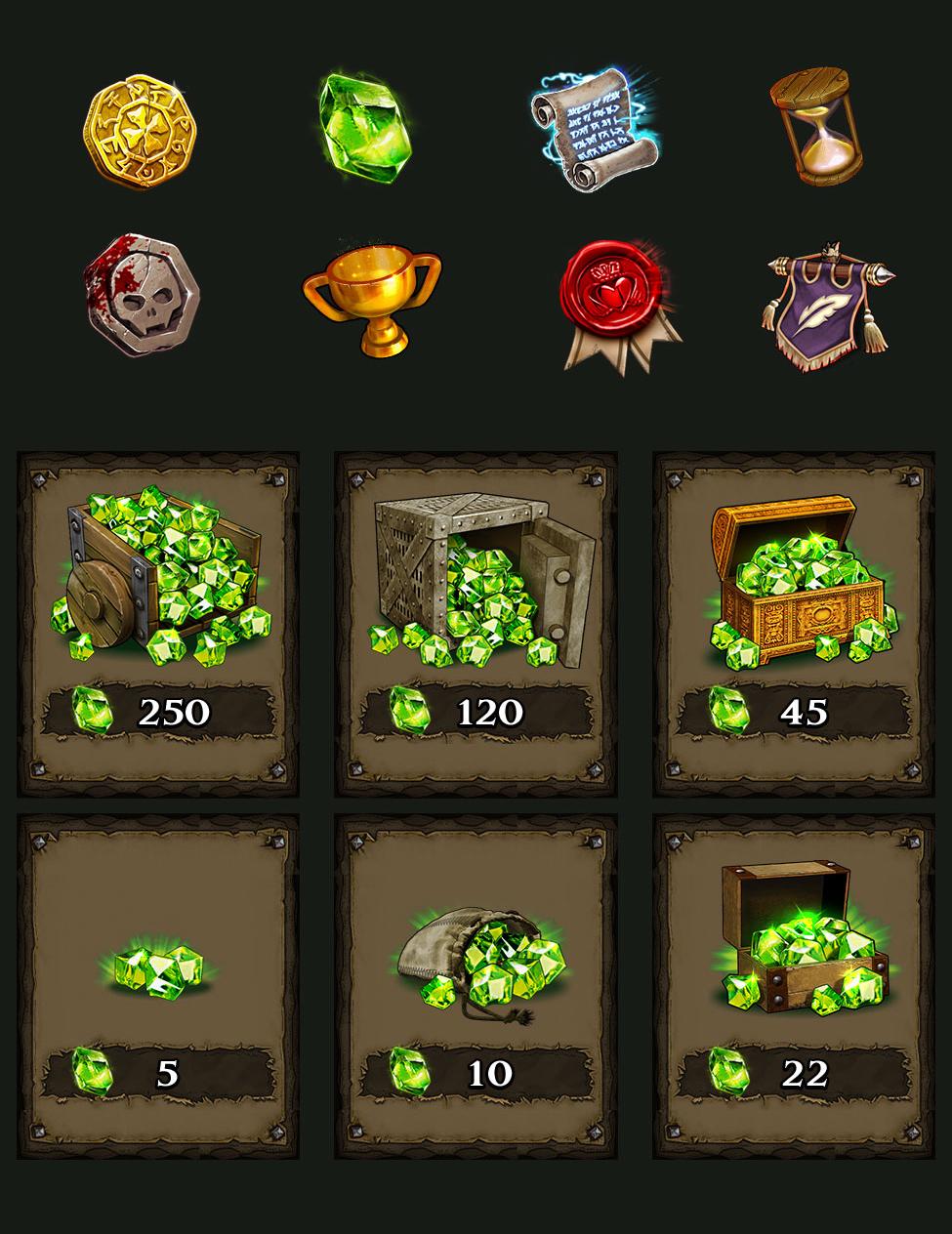 mobile UI Game Art
