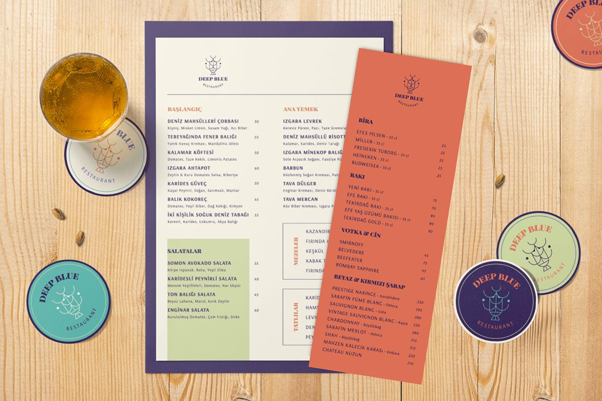 branding  coaster conceptual identity logo menu design Packaging restaurant seafood