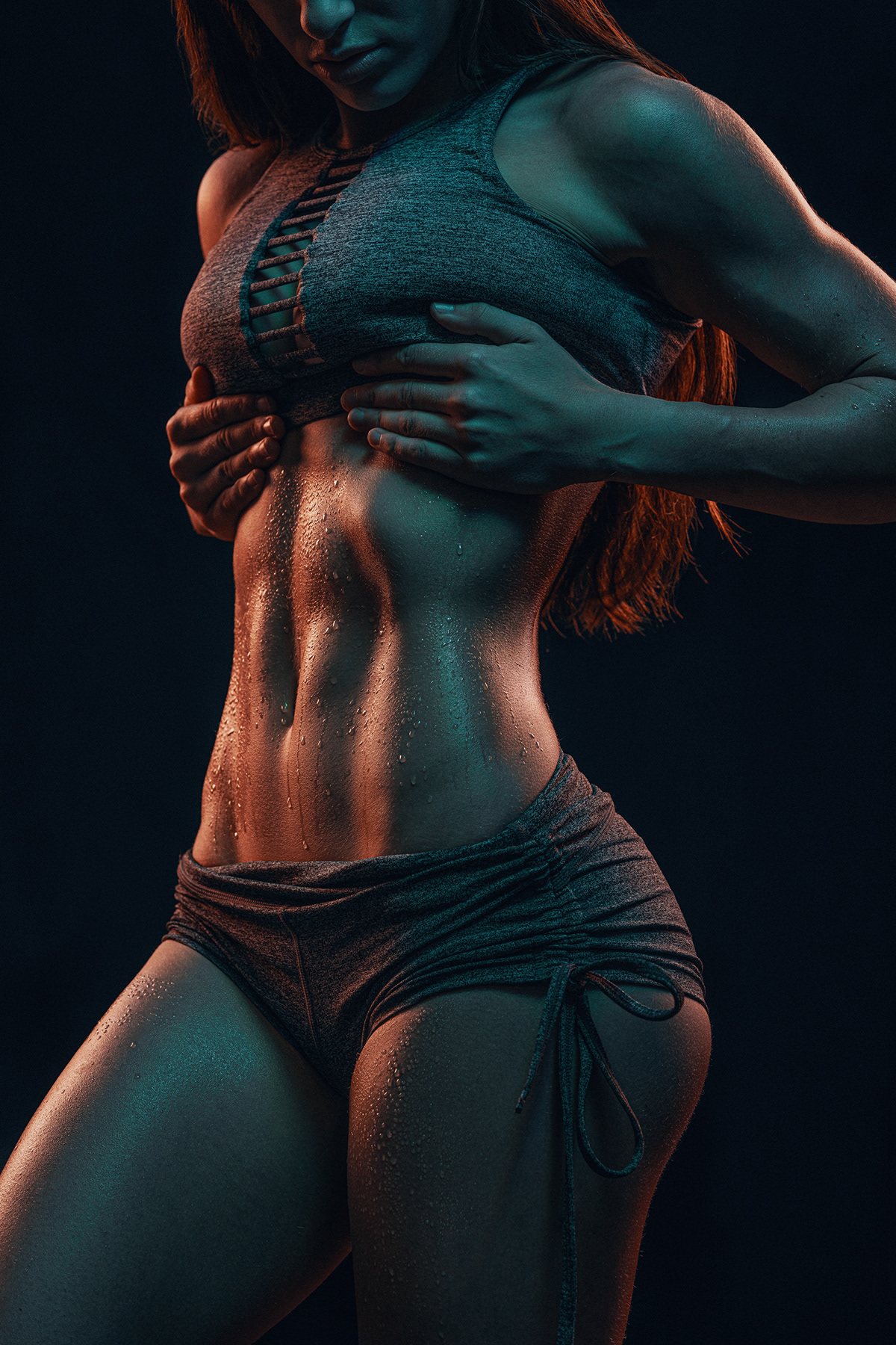 color fitness gel lighting lighting model