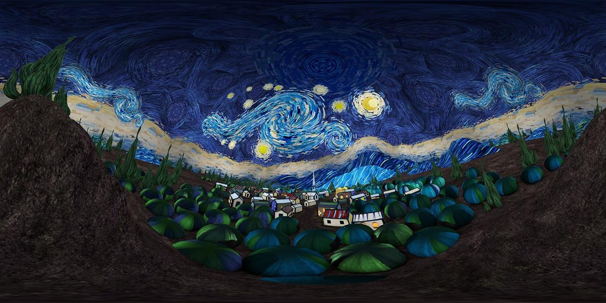 The Starry Night Of Van Gogh 梵高星月夜动画短片 Vr On Behance