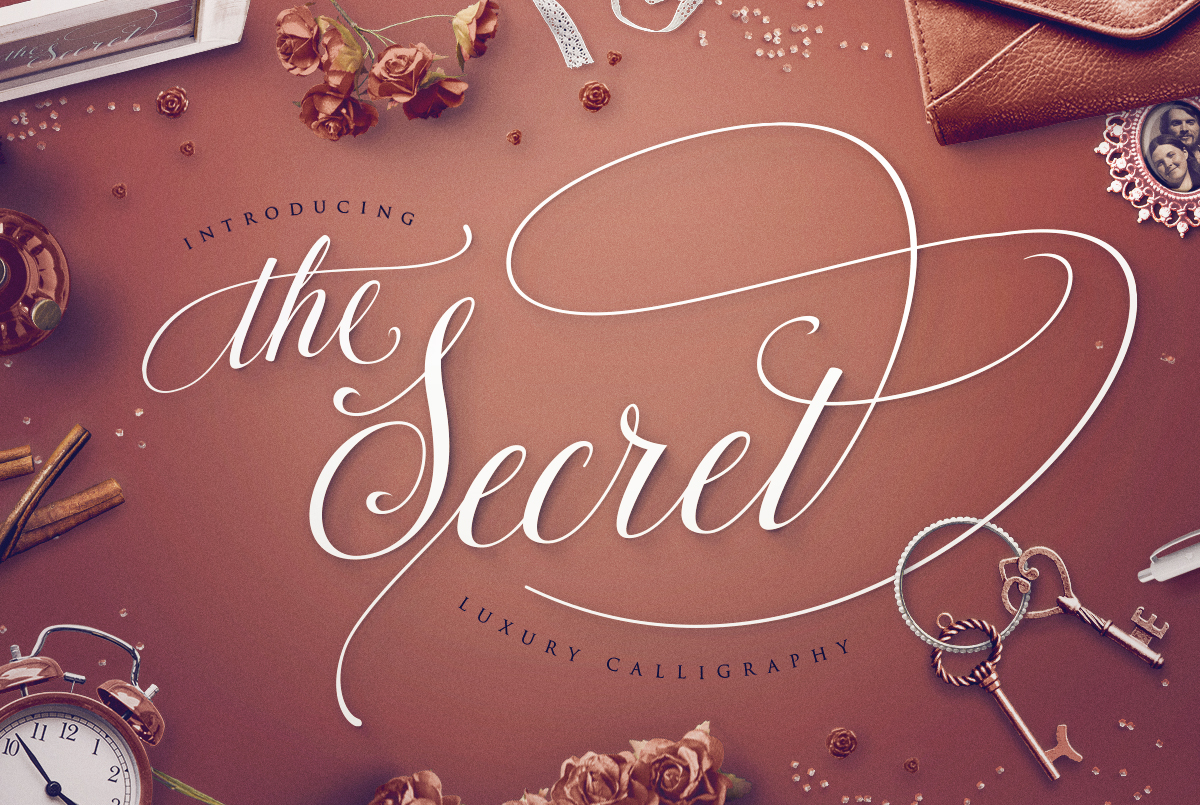 The Secret: Luxury Calligraphy Script on Behance