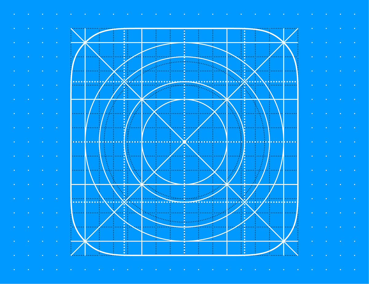 Free Template Ios 12 Icon Grid Eps8 Vector Illustration On