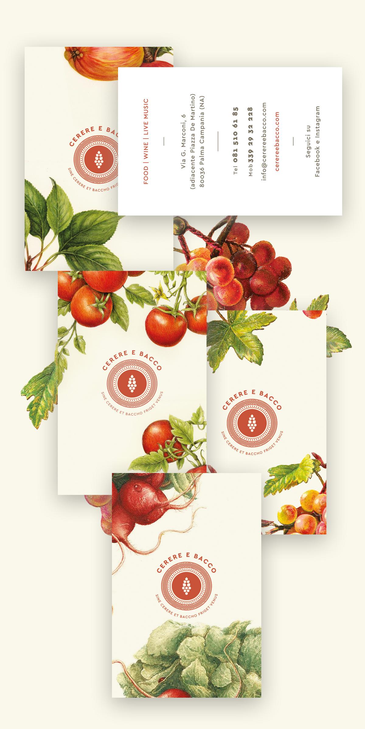 logo Food  restaurant wine bar cards Stationery