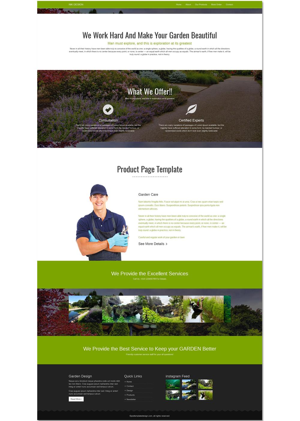 Free Garden Html Template On Behance