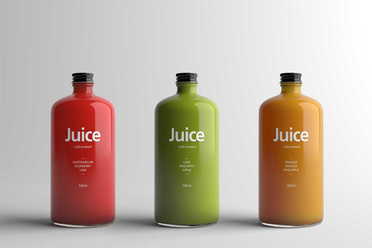Juice Bottle Packaging Mock Up On Behance