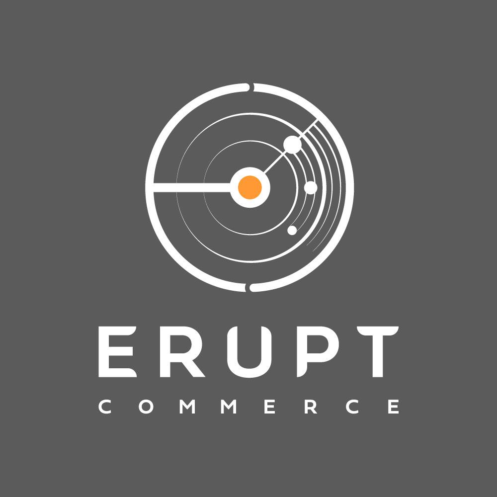 branding  commerce design erupt logo