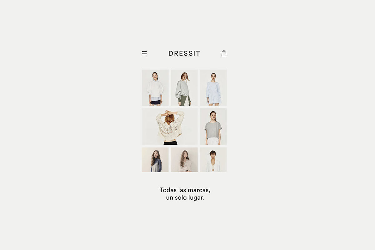 Ecommerce. Shopping fashion online. Web and app design.