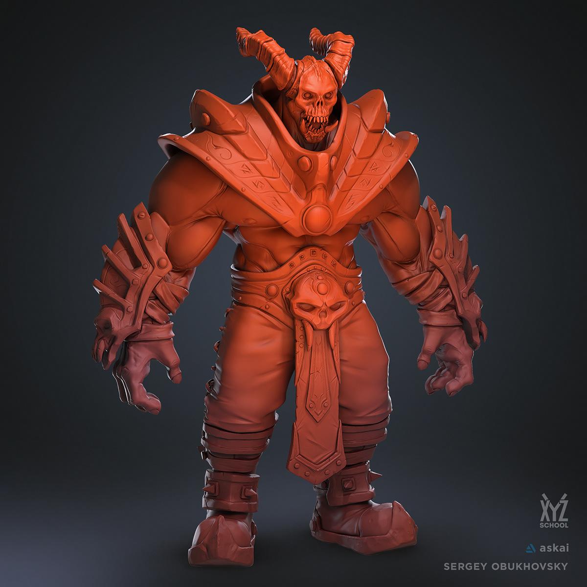 Character design  Character Sculpt concept art Creature Design demon demon design horns stylized Zbrush