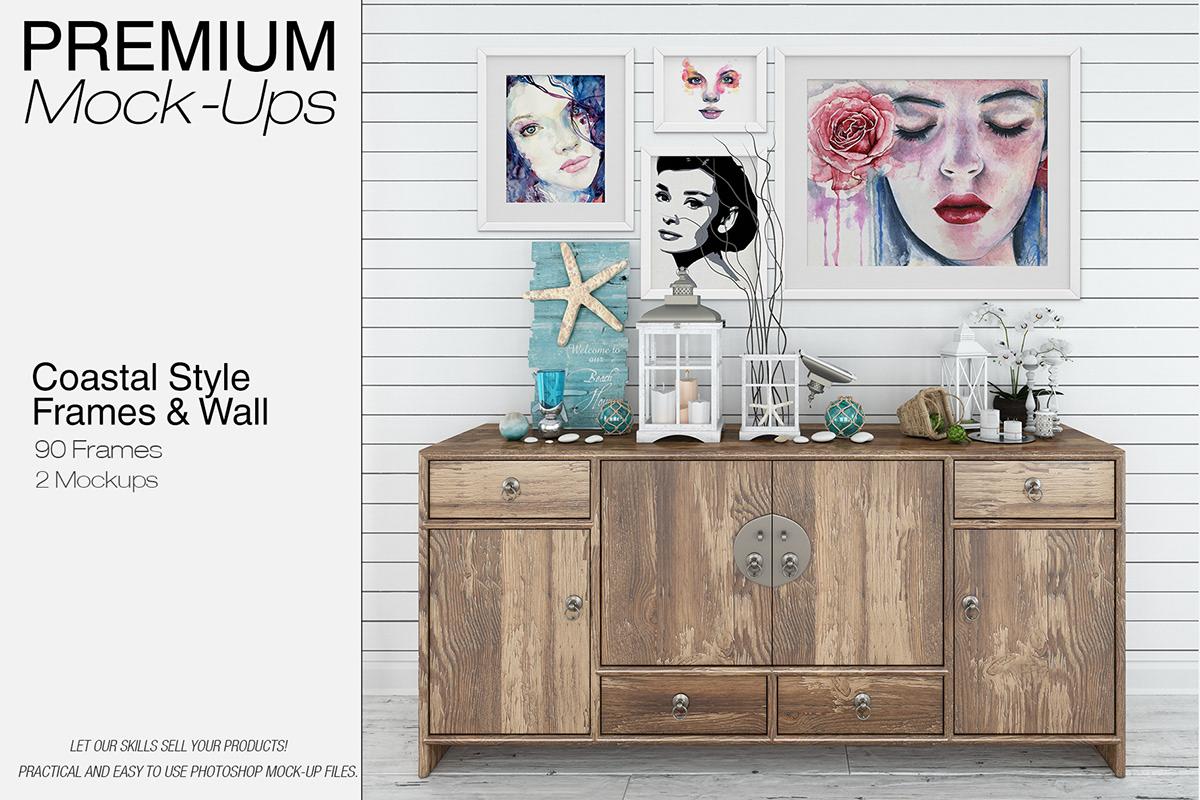 Custom Frames Set - Coastal Style on Wacom Gallery