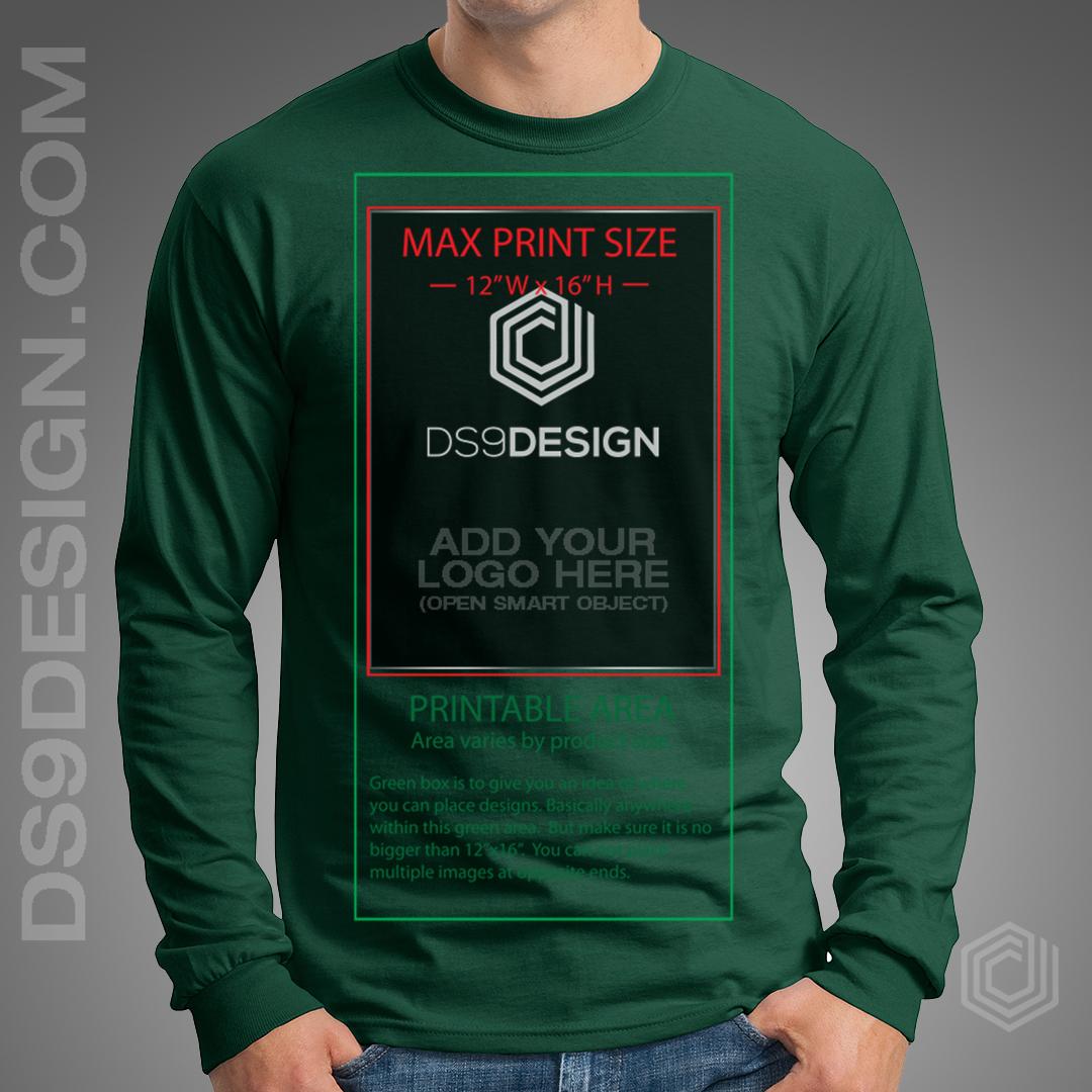 Gildan G2400 Long Sleeve Shirt Mockup Template On Behance