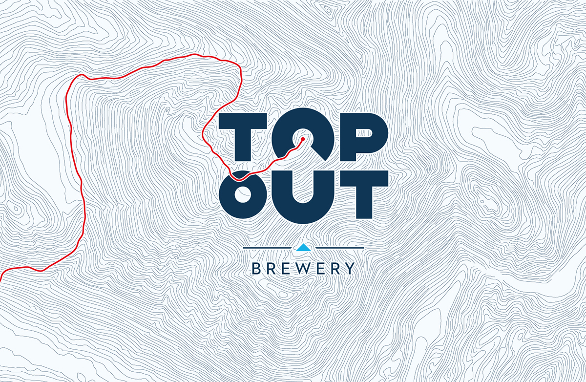 Adobe Portfolio beer drinking maps Geography topography graphic design  logos