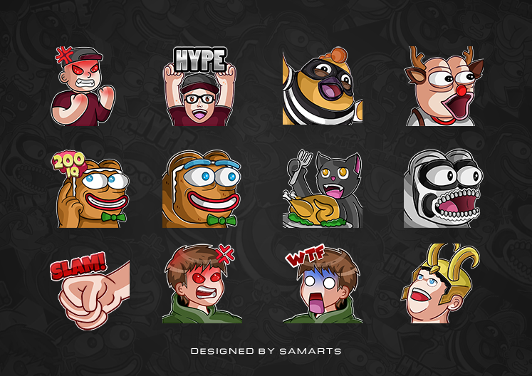 Twitch Emotes - Emote Collection on Behance