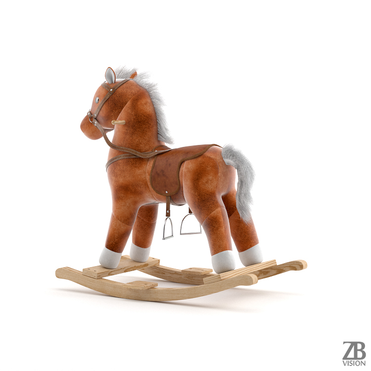 Free 3d Rocking Horse On Behance