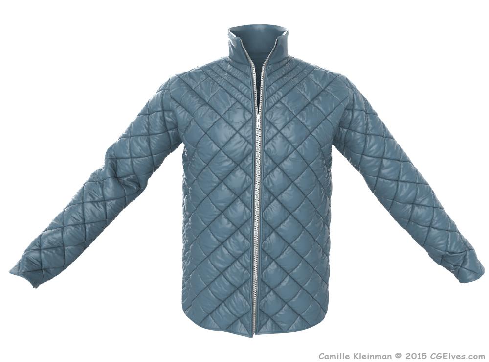Mens Quilted Marvelous Designer Jacket On Behance