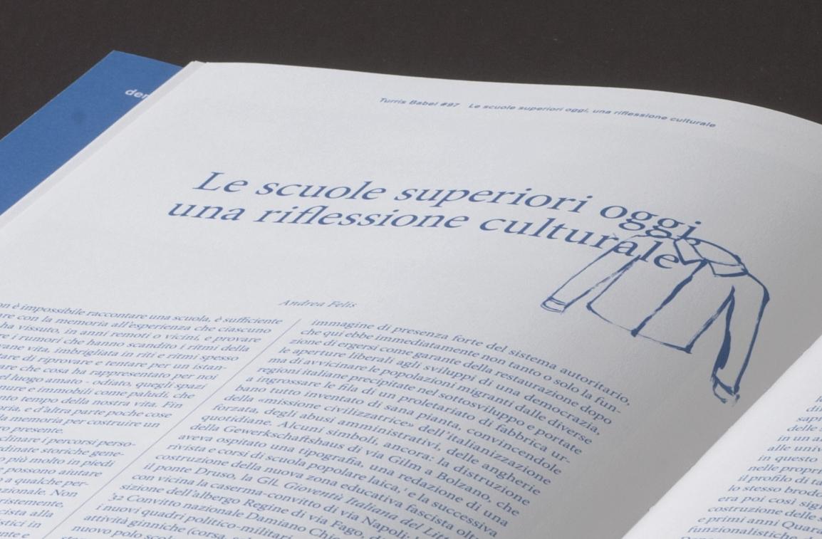 editorial magazine turris babel calligraphic pen watercolor handdrawn