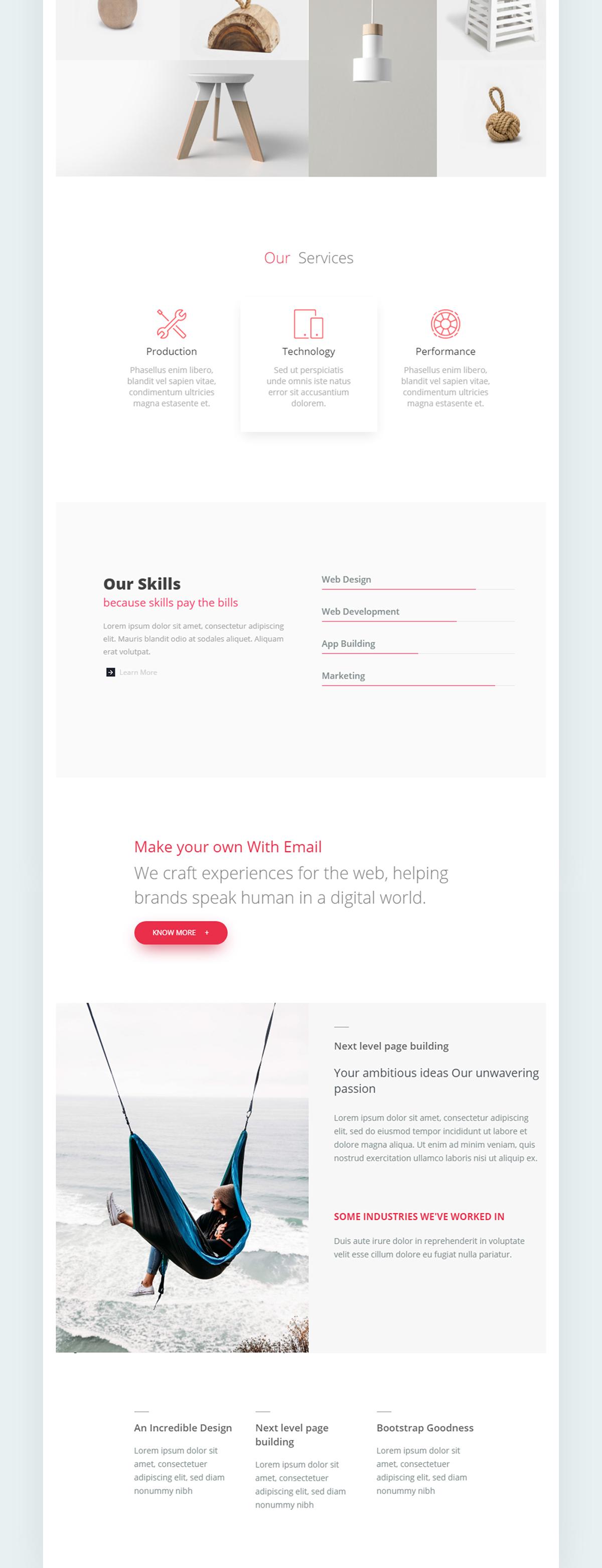 UiX Responsive Email Template Minimal On SVA Portfolios - Minimal email template