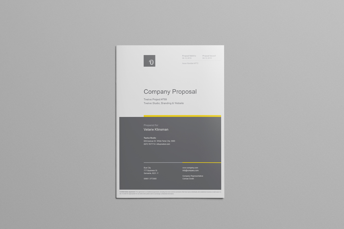 Company Proposal Template On Behance