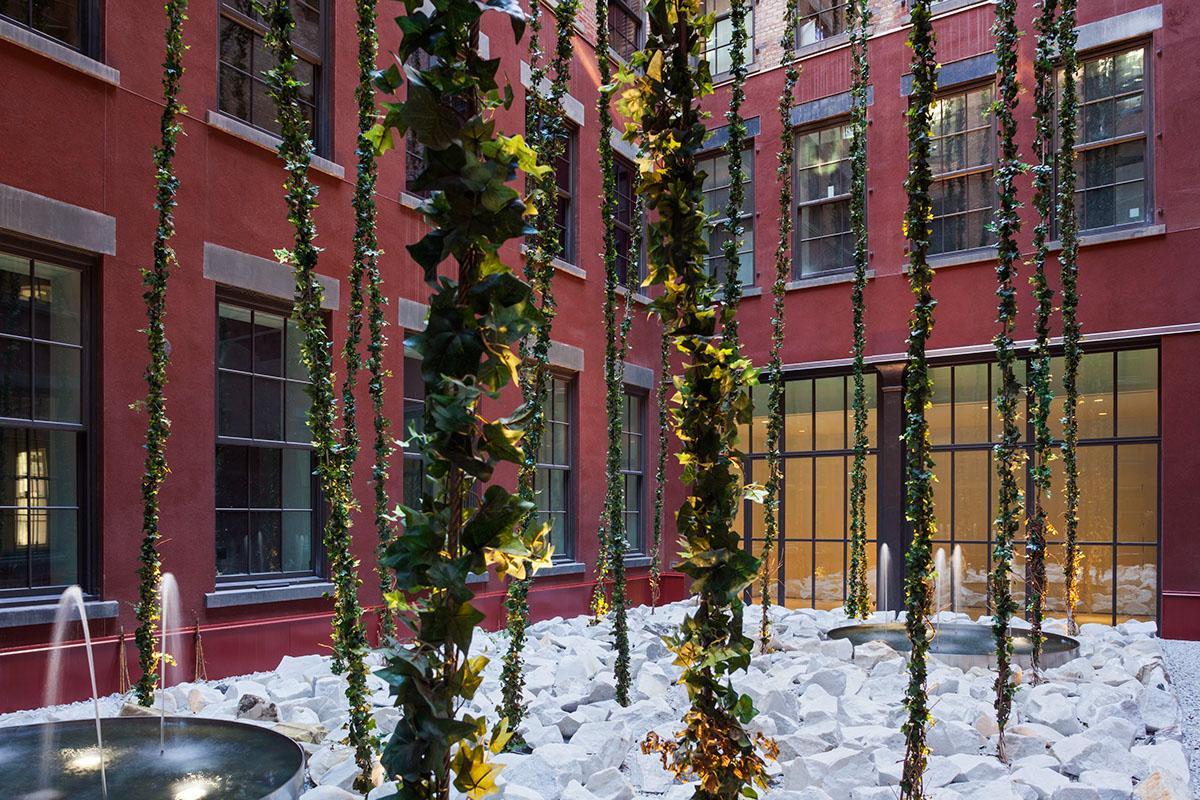the schumacher courtyard garden on behance