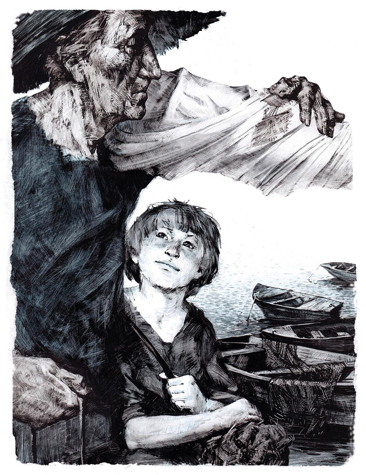illustrations oil graphic arts book illustration