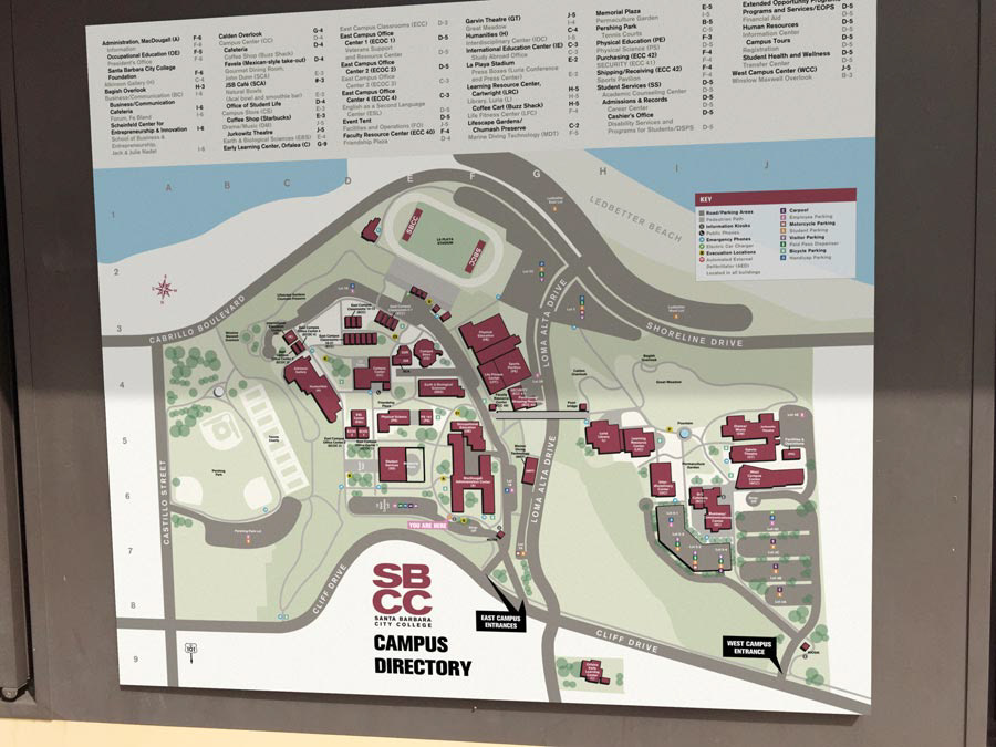 Santa Barbara City College Campus Maps And Style Guide On Behance