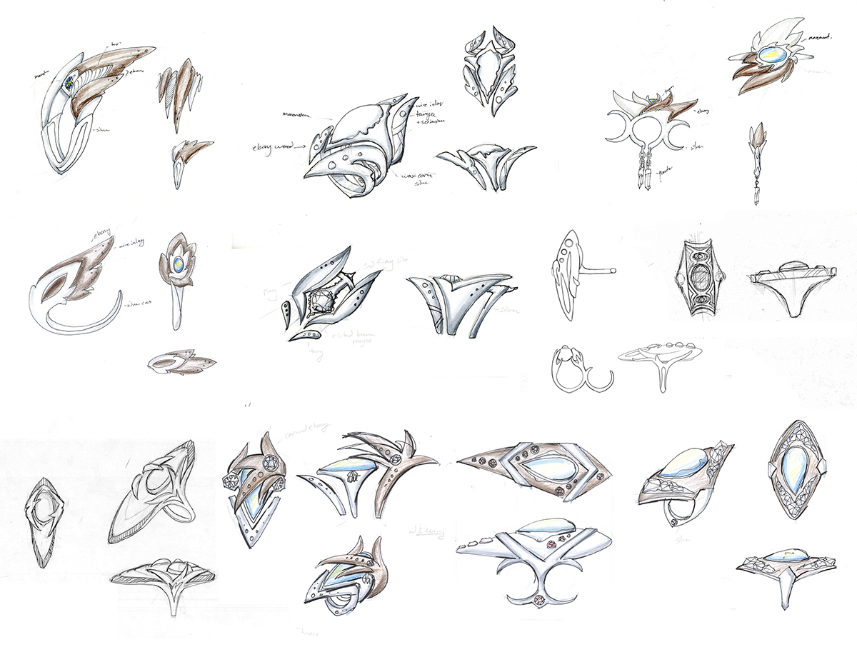 rendering design handdrawn templates ideation sketches concept watercolor pencil gouache