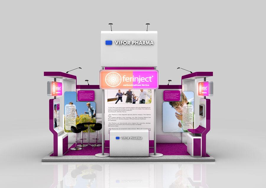 OM PHARMA-exhibition booth on Behance