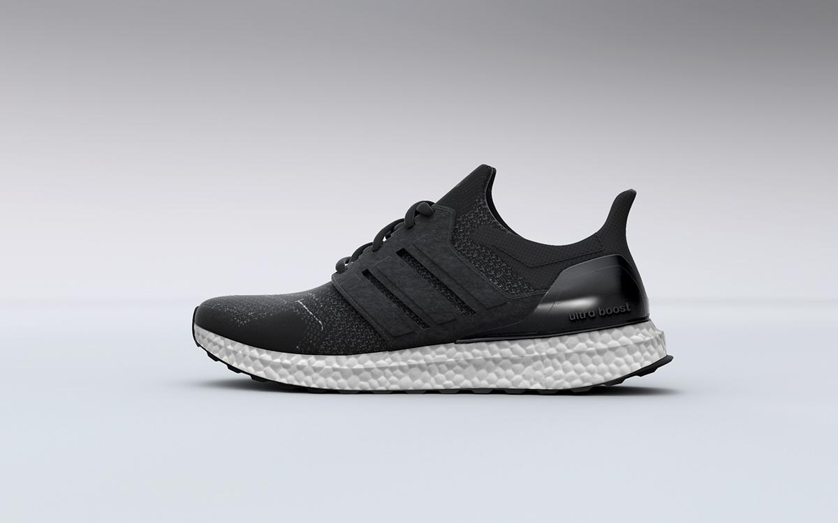 3D Sneaker Adidas Ultra Boost on Behance
