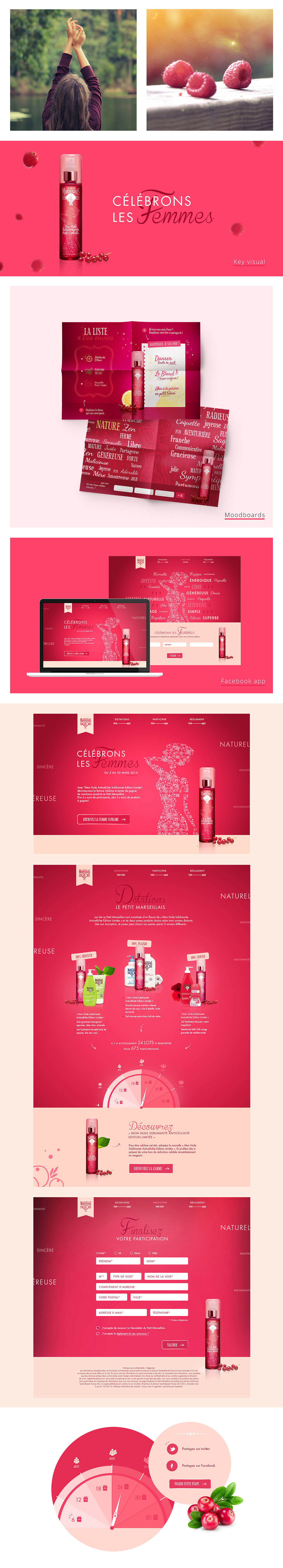 spring women femme sublime beauty petit marseillais cosmétiques pink rose Fruit girl girly game