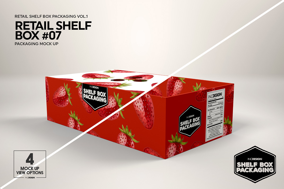 Mockup Template Retail Shelf Box Packaging Vol 01 On Behance