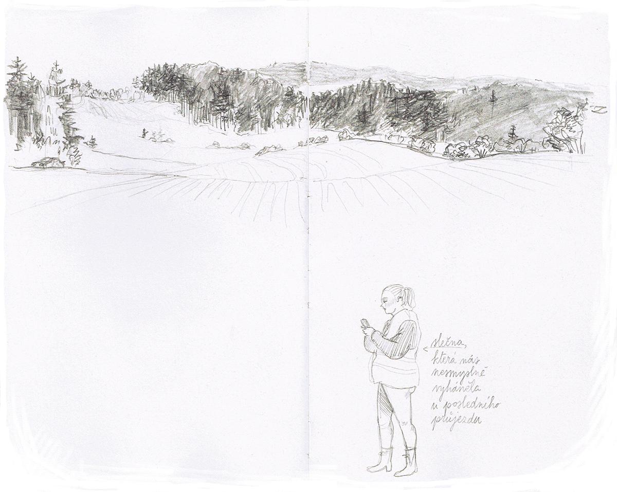 Drawing  ILLUSTRATION  Landscape pencil rallye sketch sketchbook sketching