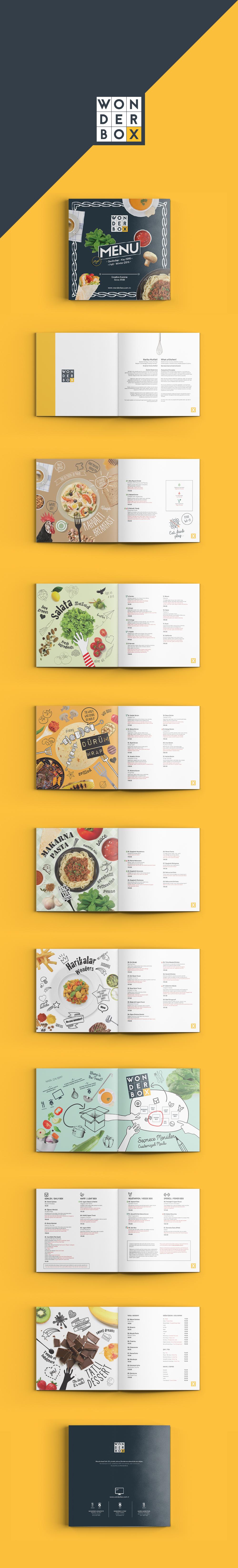 wonderbox creative cuisine menu on behance. Black Bedroom Furniture Sets. Home Design Ideas