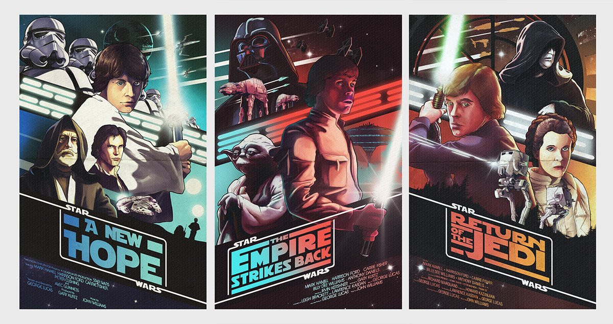 star 369中文_Star wars Original trilogy Posters on Behance