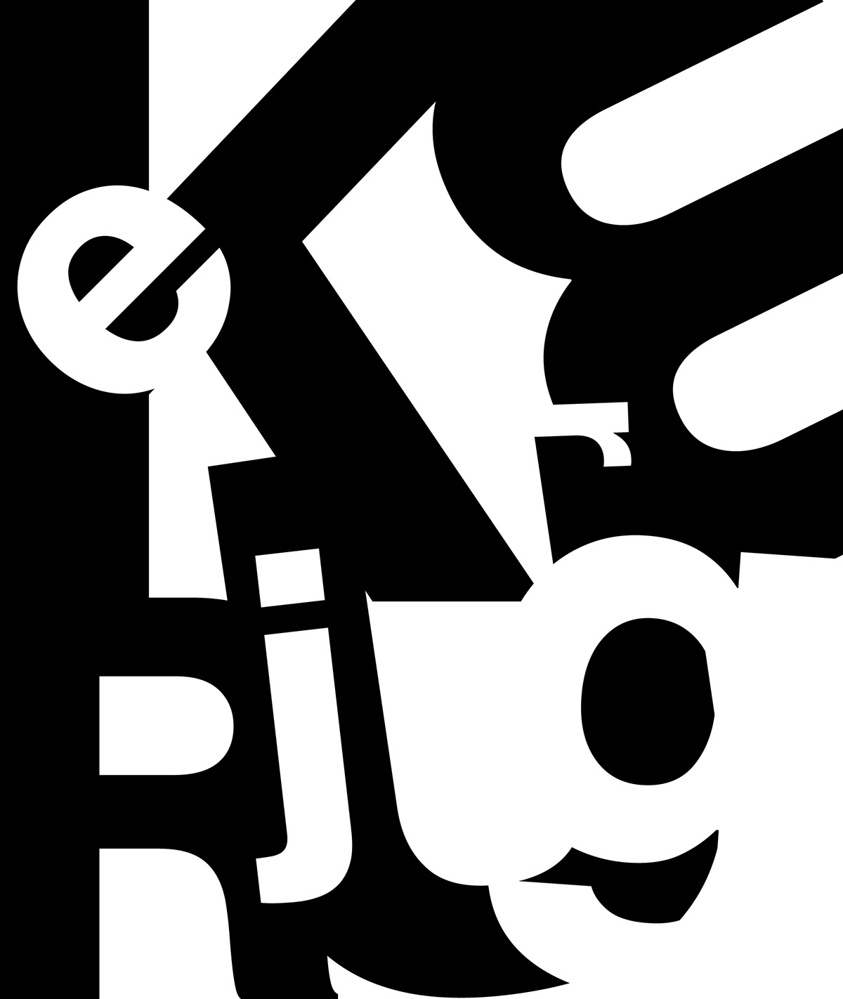 Abstract Typography Shapes Project On Behance