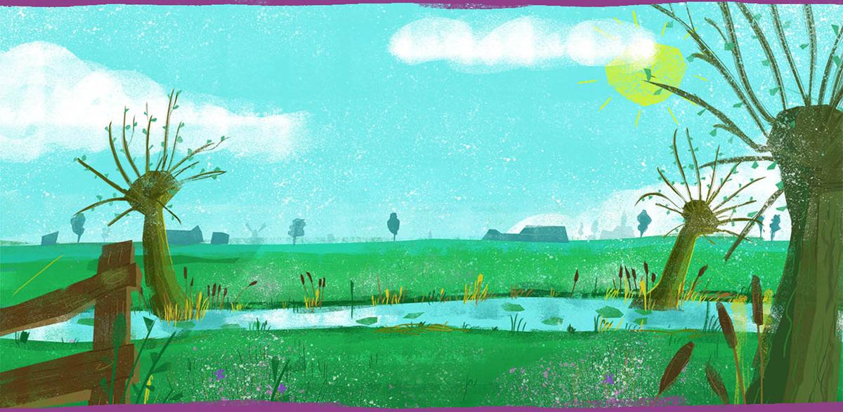 animation  backgrounds Environment design ILLUSTRATION