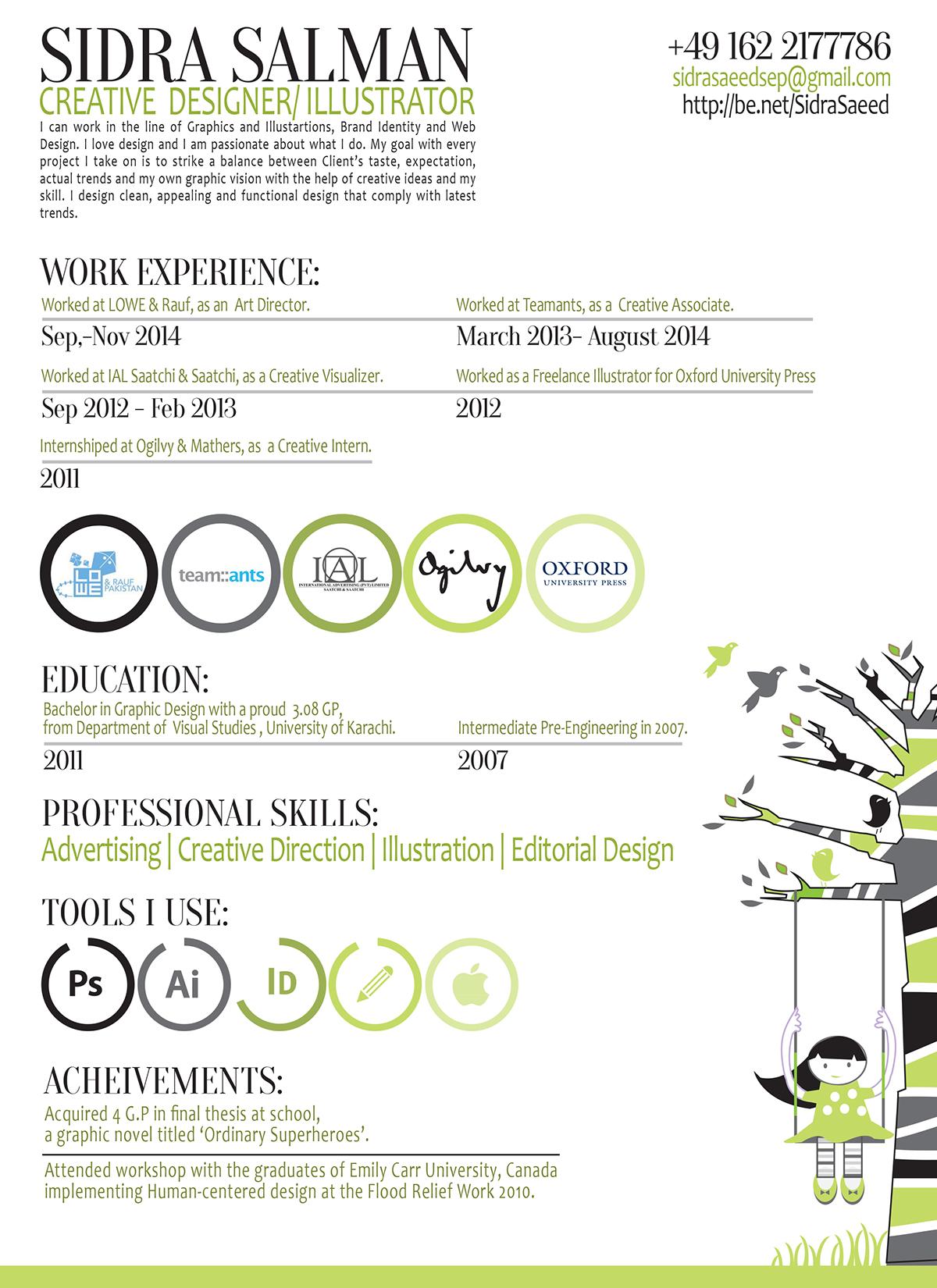 Sidra Salman | Resume on Behance