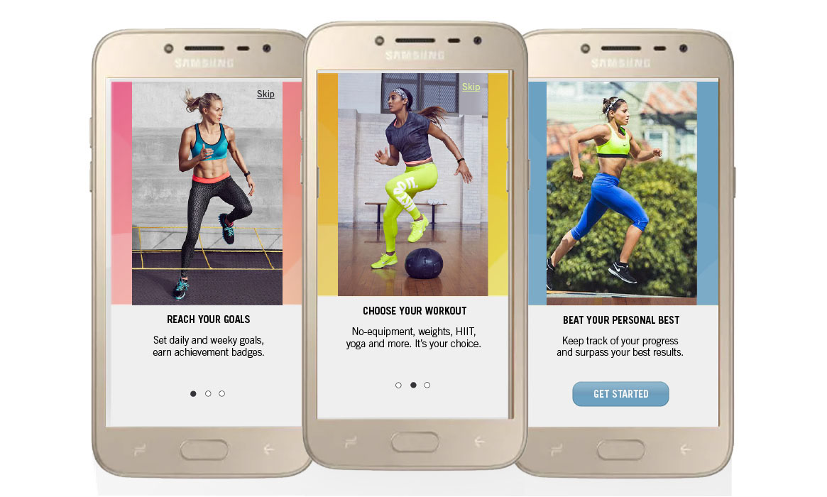 Fitness app - some quick info - onboarding screens on Behance