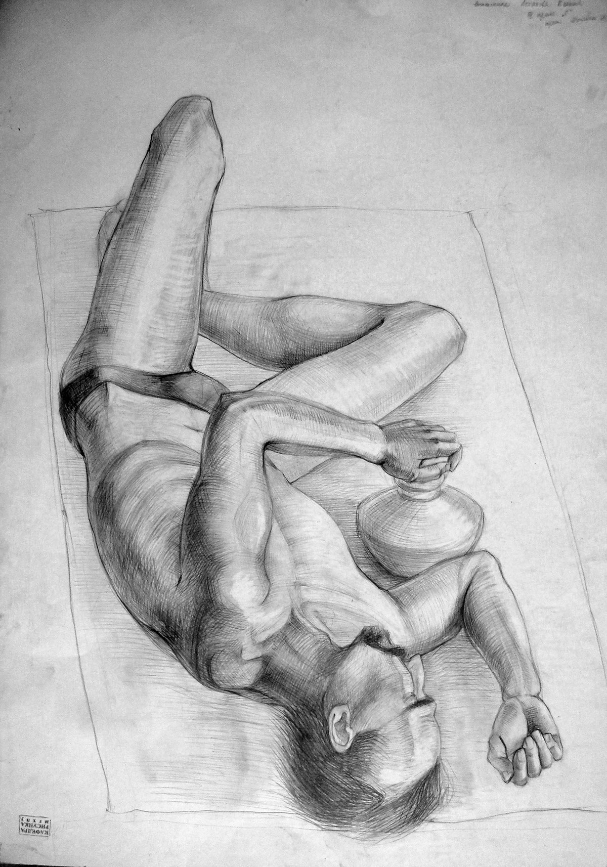 Different drawings in pencil made in sketchbook or during my student years enjoy