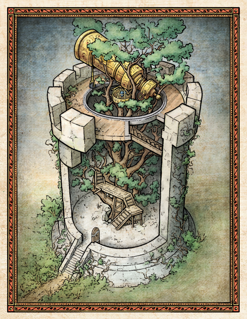 Tree Tower Cutaway Illustration